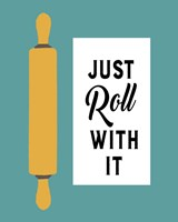 Retro Kitchen III - Just Roll With It Fine-Art Print