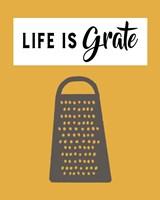 Retro Kitchen I - Life Is Grate Fine-Art Print