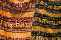 Fiji, Yasawa Islands Colorful fabrics with prints Fine-Art Print