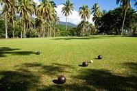 Lawn bowling, Taveuni Estates, Taveuni, Fiji Fine-Art Print