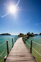 Sun over Likuliku Lagoon Resort, Malolo Island, Mamanucas, Fiji Fine-Art Print