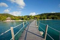 Pier at Likuliku Lagoon Resort, Malolo Island, Fiji Fine-Art Print