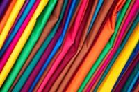 Brightly colored material at Suva Flea Market, Suva, Viti Levu, Fiji Fine-Art Print