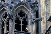 Castle Window and Gargoyle, Prague, Czech Republic Fine-Art Print