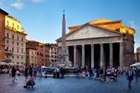 Sunlight on the Pantheon, Rome, Lazio, Italy Fine-Art Print