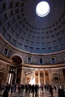 Interior of the Pantheon in Rome, Lazio, Italy Fine-Art Print