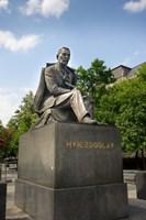Slovakia, Bratislava, statue of Hviezdoslav Fine-Art Print