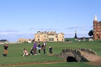 18th Hole and Fairway at Swilken Bridge Golf, St Andrews Golf Course, St Andrews, Scotland Fine-Art Print