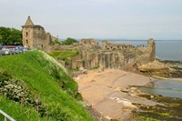 Coastline Beach and Ruins of St Andrews, Scotland Fine-Art Print