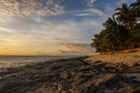 Late afternoon light on a beach on Beachcomber island, Mamanucas Islands, Fiji, South Pacific Fine-Art Print