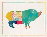 Boho Pig Fine-Art Print