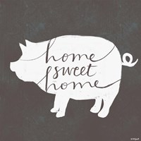 Home Sweet Home Pig Fine-Art Print