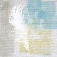 White Feather Abstract I Fine-Art Print
