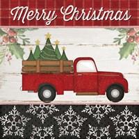 Merry Christmas Truck Fine-Art Print