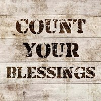 Count Your Blessings In Wood Fine-Art Print