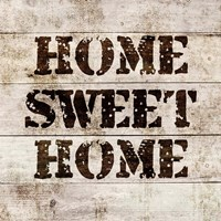 Home Sweet Home In Wood Fine-Art Print