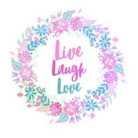 Live, Laugh, Love-Pastel Fine-Art Print