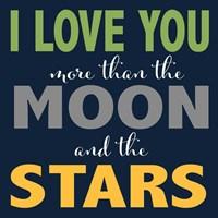Moon and Stars Boys Fine-Art Print
