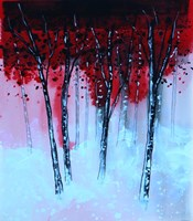 Red & Black Forest Fine-Art Print