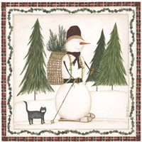 Cross Country Snowman Fine-Art Print
