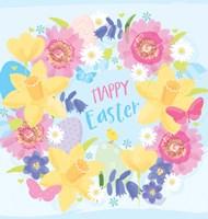 Happy Easter - Flowers Fine-Art Print