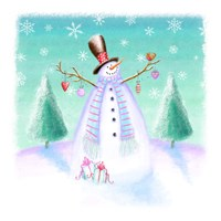 Holiday Snowman Fine-Art Print