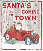 Santa's Coming to Town Fine-Art Print