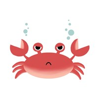 Sea Creatures - Crab Fine-Art Print