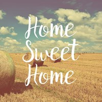 Home Sweet Home Bales of Hay Fine-Art Print