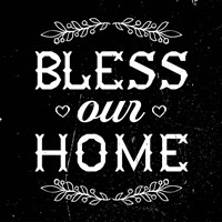 Bless Our Home-Black Fine-Art Print