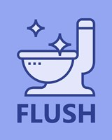 Boy's Bathroom Task-Flush Fine-Art Print