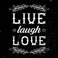 Live Laugh Love-Black Fine-Art Print