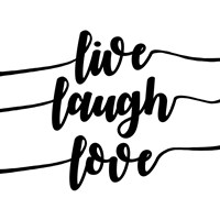 Live Laugh Love-Script Fine-Art Print