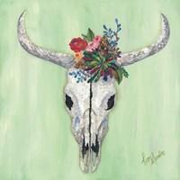 Floral Bull Skull Fine-Art Print
