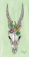 Floral Impala Skull Fine-Art Print
