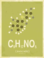 Molecule Avocado Green Fine-Art Print