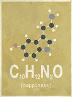 Molecule Happiness - Beige Fine-Art Print