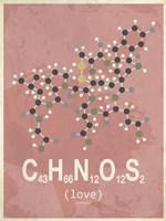 Molecule Love-Red Fine-Art Print