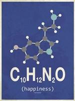Molecule Happiness- Dark Blue Fine-Art Print