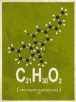 Molecule THC - Green Fine-Art Print