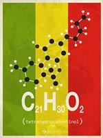 Molecule THC - Stripes Fine-Art Print