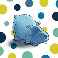Hippo Dots Fine-Art Print