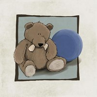 Teddy Bear and Ball Fine-Art Print