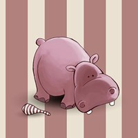 Hippo Stripes Fine-Art Print