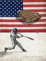 American Baseball 1 Framed Print