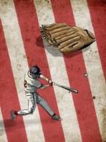 American Baseball 2 Framed Print
