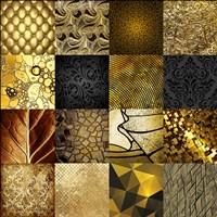 Tiles Decor Gold Fine-Art Print