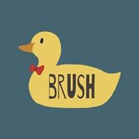 Duck Family Boy Brush Fine-Art Print