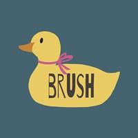 Duck Family Girl Brush Fine-Art Print