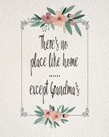 There's No Place Like Home Except Grandma's Pink Flowers Fine-Art Print